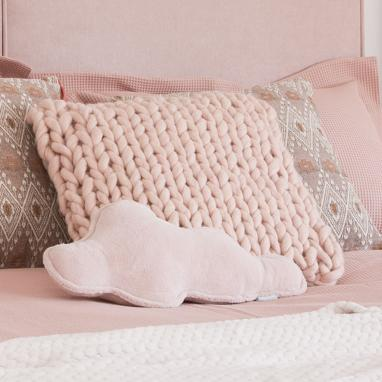 Wers pink microfibre cushion