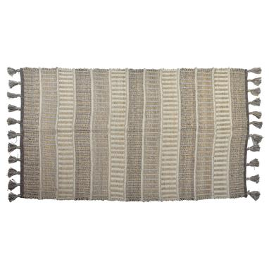 Kiss beige cotton jute ruge