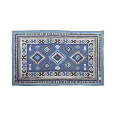 Kala blue cotton rug