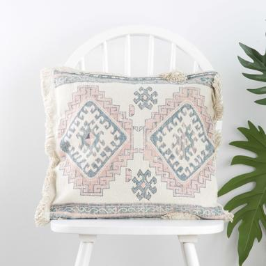 Tabriz cotton blue cushion
