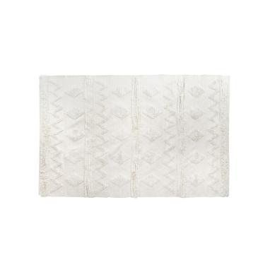 Netzi white fringes rug 120x180