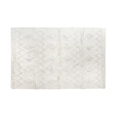 Netzi white fringes rug 160x230