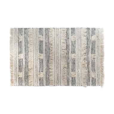 Diza blacl fringes rug 160x230