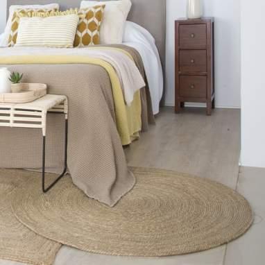 Siela alfombra fibra 80x80 natural