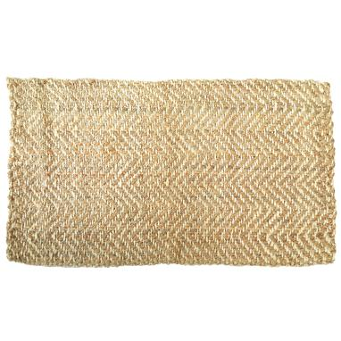 Aggy natural jute zigzag rug