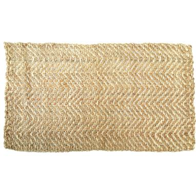 Pely natural jute zigzag rug