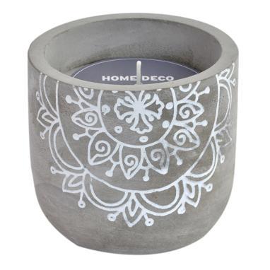 Siem candela cemento cera mandala grigio