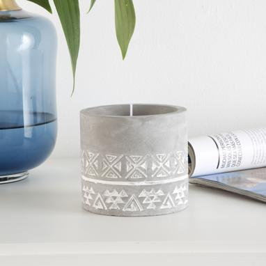 Kate grey cement candle