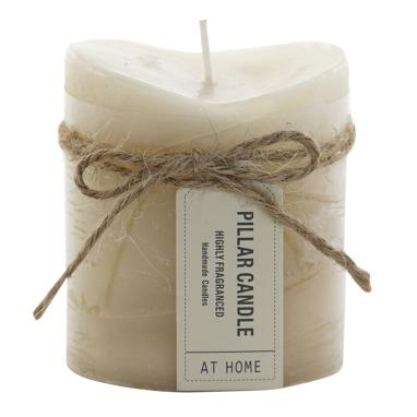 Beri vela perfumada 6,8x6,8 x7,5 lazo beige