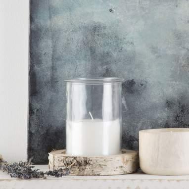 Lomo white crystal wood candle