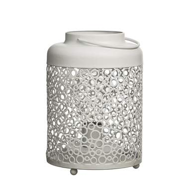 Lampione led crema metallo