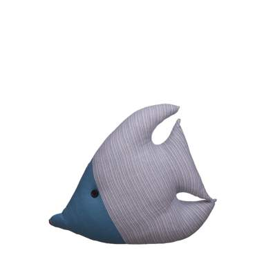 Trava-portas peixe azul têxtil