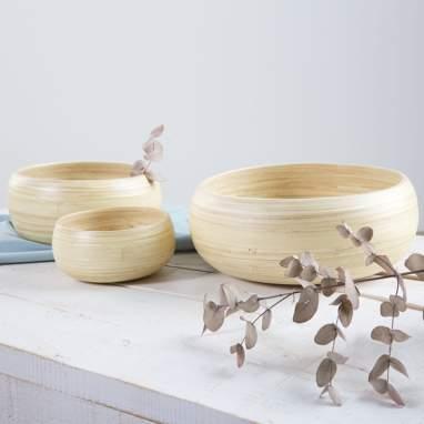 S/3 ciotola naturale bambù