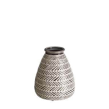 Jarrón gris-blanco cerámica