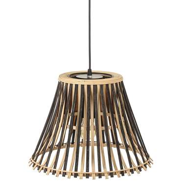 Fisne suspension noir-naturel bambou