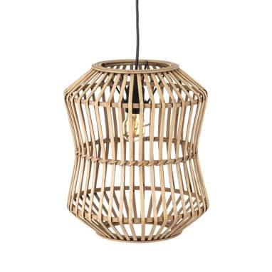 Pesels lampada soffitto naturale bambù