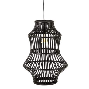 Ames black bamboo lamp