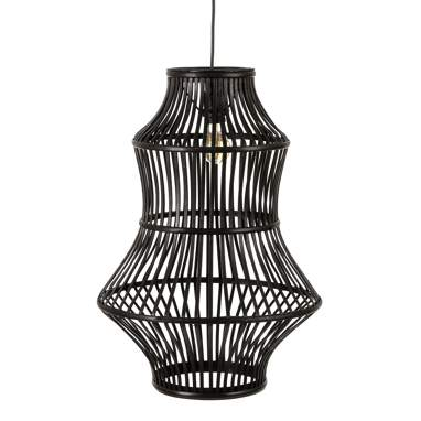 Riset black bamboo lamp