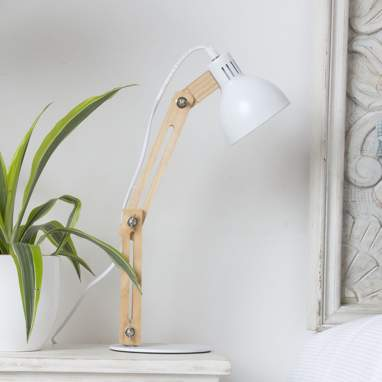 Pelsa natural white table lamp