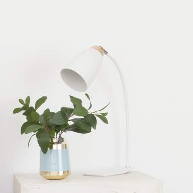Keyl white metal industrial table lamp