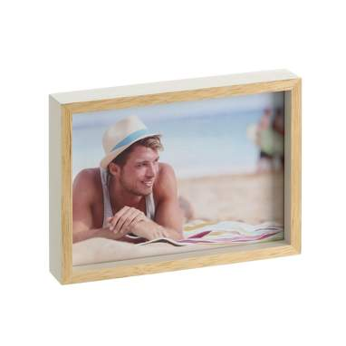 Neras cream natural wood frame