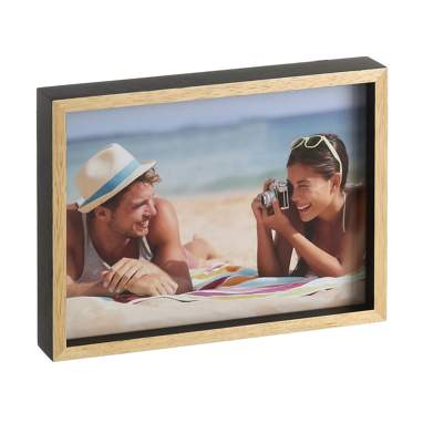ñeles black-natural wooden frame