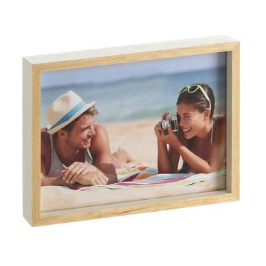 Heis cream natural wooden frame