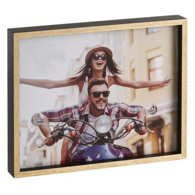 Yiroe black natural wooden frame