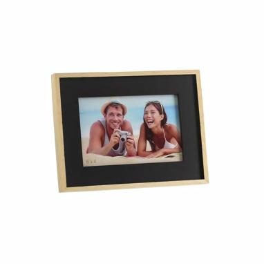 Zasae black natural wooden frame