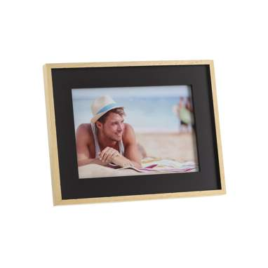 Yrest black natural wooden frame