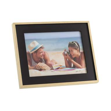 Jolmes black natural wooden frame