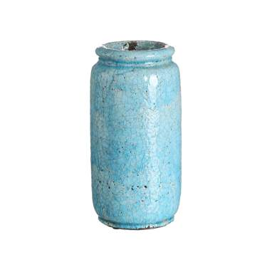 Mies jarrón turquesa cerámica