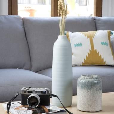 Ceisen jarra mate azul-claro cerâmica 11x11x39,50