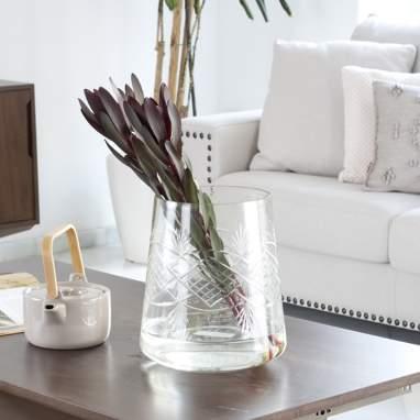Simp portavelas cristal decoración