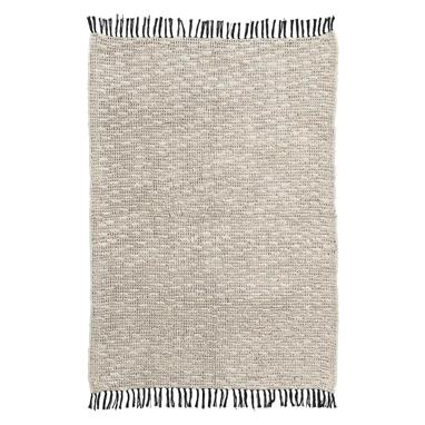 Lik beige-black cotton rug