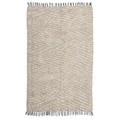 Yfaz alfombra beige-negro