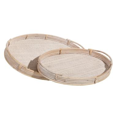 Karm set 2 bamboo natural trays