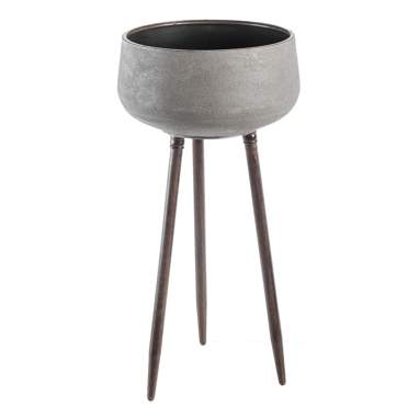 Vila grey metal flowerpot stand