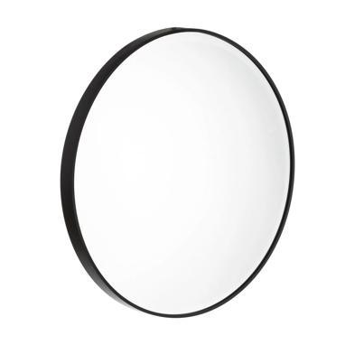 Otto miroir noir aluminium-cristal