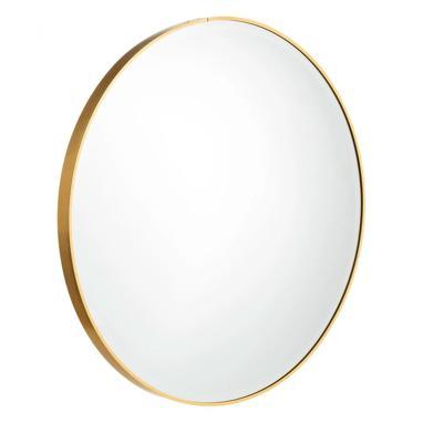 Midi miroir or aluminium-cristal déco