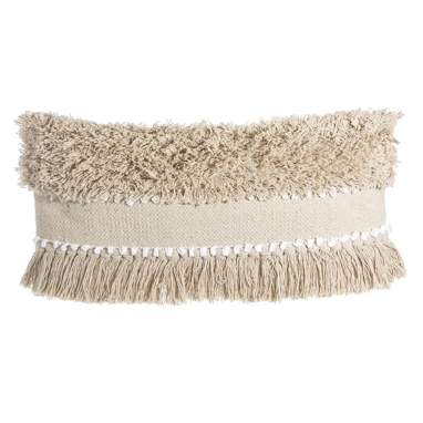 Tore cotton beige cushion