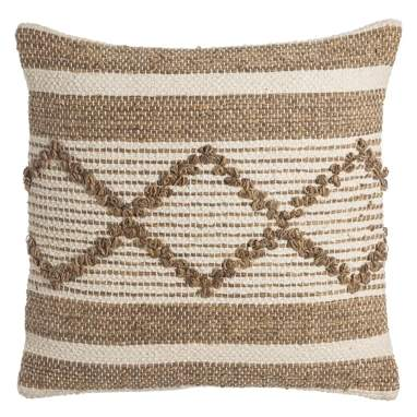 Take cotton beige cushion