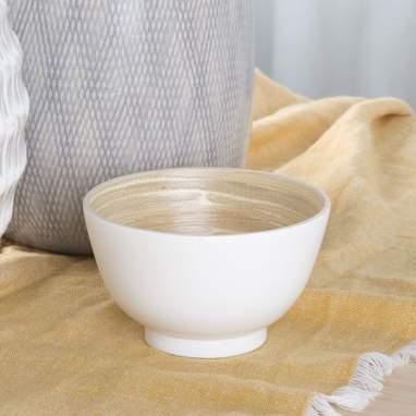 Xusi white bamboo bowl