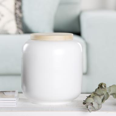Brum white bamboo decoration pot