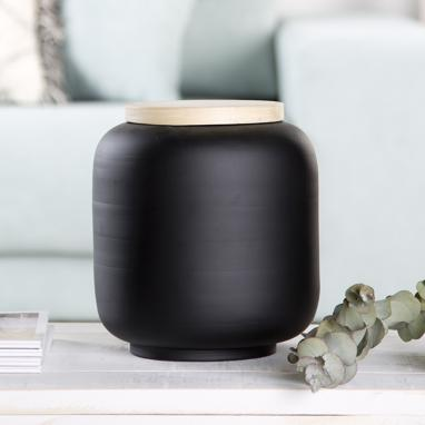 Miza black bamboo decoration pot