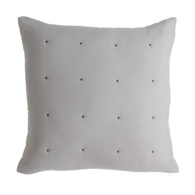 Ezka grey microfibre cushion