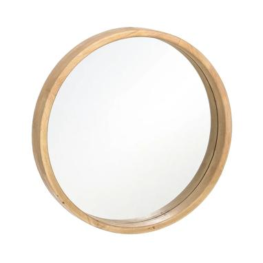 Casi natural wood/crystal mirror