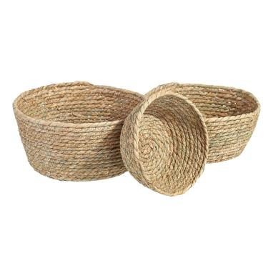 Mest set 3 natural fibre basquets
