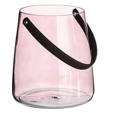 Vera pink crystal candleholder