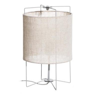 Sidi natural-grey fabric metal table lamp